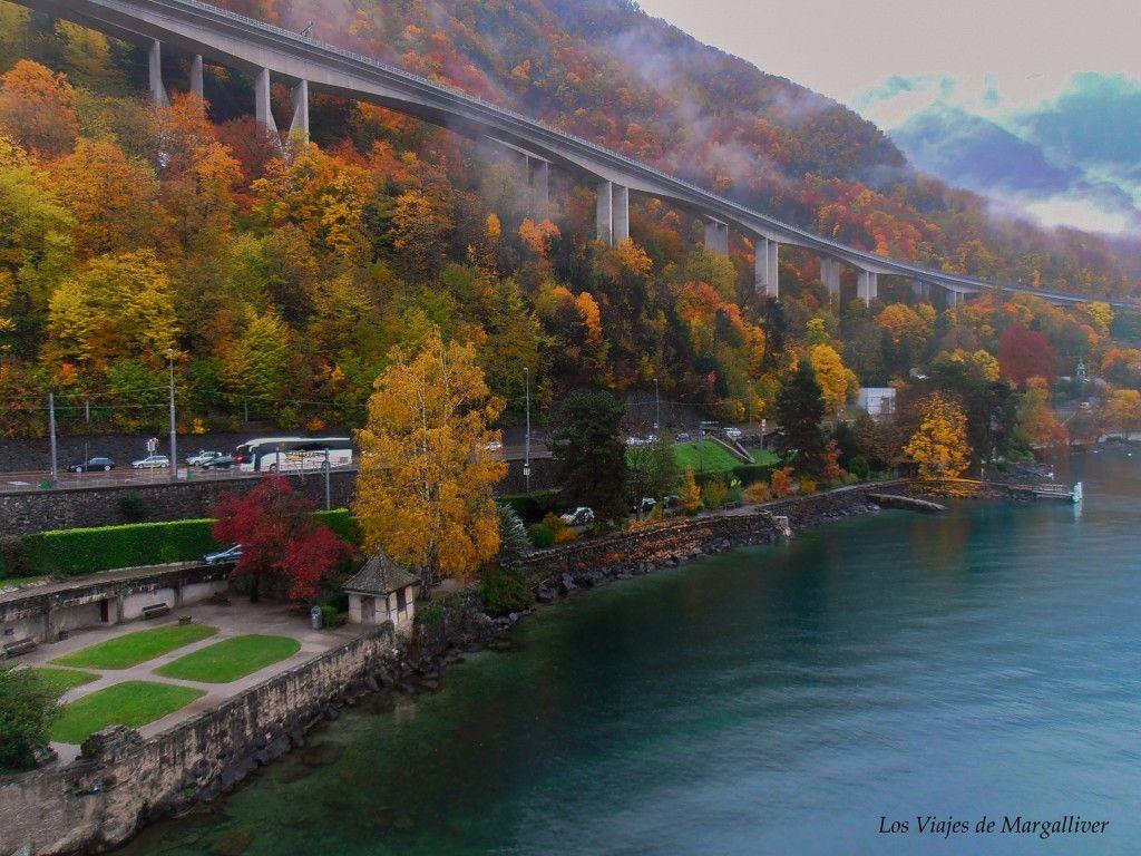 El otoño en Montreux nos muestra estos colores preciosos - Los viajes de Margalliver